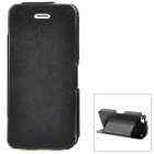 KOOBOS Ultra-thin Protective Synthetic Leather Case w/ Stand for Iphone 5 - Black