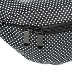 Mrace Stylish Polka Dot Pattern Light Practical Nylon Outdoor Exercise Waist Bag - Black + White