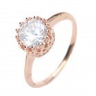 KCCHSTAR Fashion Elegant Women's 18K Zinc Alloy + Rhinestone Ring - Golden