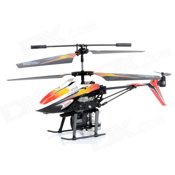 WLtoys V319 3.5-CH IR Remote Control Water Jetting R/C Helicopter w/ Gyro / LED - Orange + White - DXR/C Helicopters<br>Brand WLtoys Model V319 Quantity 1 Piece(s)/pack Color Orange + white Material ABS + aluminum alloy Channel 3.5 Channels Channel Specification Up/down forward/backward left/right hovering Gyroscope Yes Remote Type IR Remote Control Range 15 meters Battery Capacity 240 mAh Battery Type Li-ion polymer Charging Time 25 minutes Working Time 7 minutes Remote Control Type Included Controller Battery Type AA (not included) Controller Battery Quantity 6 Suitable Age 14+ Other Feature Water jetting R/C helicopter with seven color light and switch. Certification CE / EN71 / 6P / ROHS / EN60825 / EN62115 / EMC / Cadmiun / FCC / AST Packing List 1 x R/C helicopter 1 x Remote control 2 x Mail blades 2 x Tail blades 1 x USB charging cable (60cm) 1 x English / Chinese user manual 1 x Injection bottle 1 x Extension tube<br>