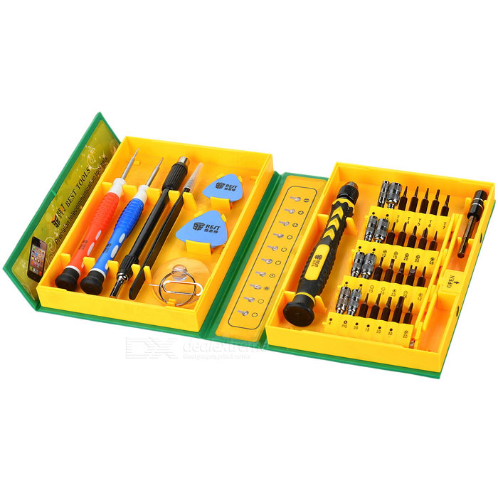 BEST 8922-38 Multi-in-1 Precise Screwdriver Tool Kit Set for Iphone / Ipad / Ipod - Multicolored