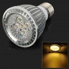 E275W E27 5W 410lm 3000K 5-LED Warm White Spotlight Bulb - Silver
