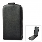 Protective Flip-Open PU Leather Case for BlackBerry Q10 - Black