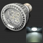 E275C E27 5W 410lm 6500K 5-LED Cool White Spotlight Bulb - Silver