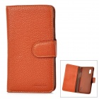 Lychee Pattern Protective PU Leather Case for LG E960 - Brown
