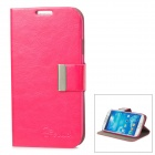 ALIS Protective PU Leather Case for Samsung Galaxy S4 i9500 - Deep Pink