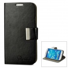 ALIS Protective PU Leather Case for Samsung Galaxy S4 i9500 - Black