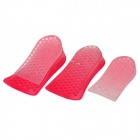 Honeycomb Structure Unisex 2-Layer Height Increased Shoe Insole Pads - Deep Pink (Pair)