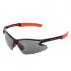 CARSHIRO T9184-C2 UV400 Protection Polarized PC Frame Resin Lens Sunglasses - Red + Black