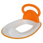 Children Non-Slip Toilet Seat Ring w/ Handle - White + Orange (7-Month~7-Year)