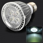 E274W E27 4W 340lm 6500K 4-LED Cool White Spotlight Bulb - Silver