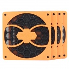 Game Demon 12cm Computer Case Dustproof Fan Filter - Black + Orange (4 PCS)