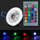 XLZM-RGB3THD Infrared 3W 180lm LED RGB Light Ceiling Lamp w/ Remote Controller - (AC 85~265V)