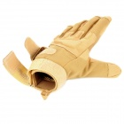 SW3038 Outdoor Windproof Cycling Super Fiber + Nylon Gloves - Sand Color (Pair / Size XL)