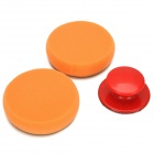 Round Waxing Sponge w/ Handle for Cars - Orange + Red