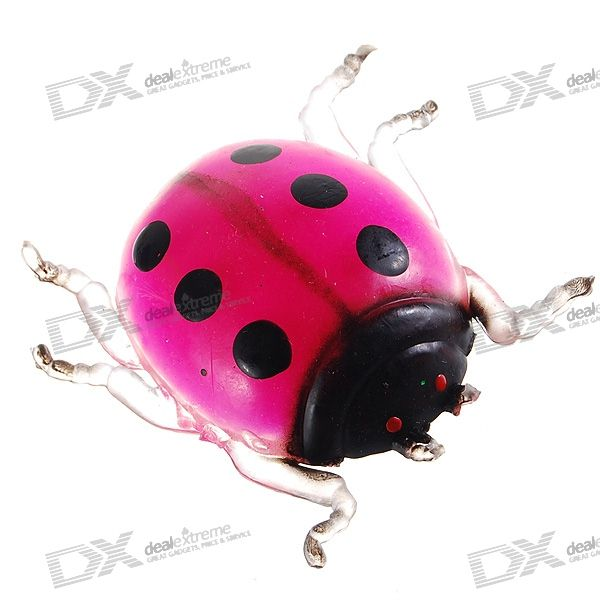 Soft Silicone Ladybug Stress-Reliever Toy (Color Assorted)