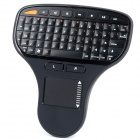 N5903 Mini 2.4GHz Wireless 71-Key Keyboard w/ Touch Board - Black