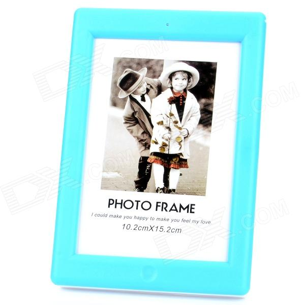 "Stilvolle USB Powered 8-LED White Light 6.5 ""ABS Photo Frame - Blau + Weiß"