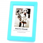 "Stylish USB Powered 8-LED White Light 6.5"" ABS Photo Frame - Blue + White"