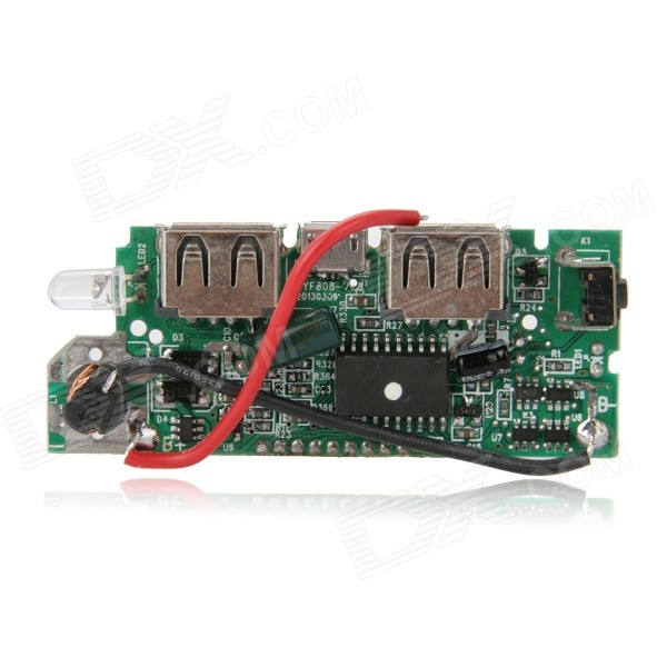 FX-608-PCBA DIY 1.2 LCD Dual-USB Output 5V Boost PCB Module w/ LED for Mobile Power - Green 100pcs lot tp4056 1a lipo battery charging board charger module lithium battery diy micro port mike usb new arrival