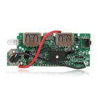 "FX-608-PCBA DIY 1.2"" LCD Dual-USB Output 5V Boost PCB Module w/ LED for Mobile Power - Green"