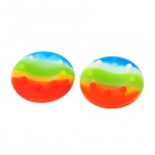 Protective Controller Joystick Cover for Xbox 360 / PS3 / PS2 - Multicolor (2 PCS)