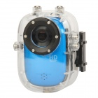 "F10 1.5"" LTPS 1080p 5.0MP CMOS Sport Waterproof DVR Camcorder w/ TF - Blue"