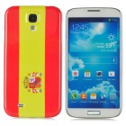 Flag of Spain Style Protective Plastic Back Case for Samsung Galaxy S4 i9500 - Red + Yellow