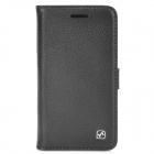 HOCO HB-L003 Classic Litch Pattern Flip-open Genuine Leather Case for Blackberry Z10 - Black