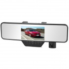 "4.3"" TFT 1/4 1.3MP CMOS 120' Wide Angle Bluetooth Car Rearview Camcorder DVR w/ G-Sensor - Black"
