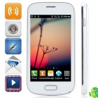 "7562 Android 4.1.1 GSM Bar Phone w/ 4.0"" Capacitive Screen, Quad-Band and Wi-Fi - White"