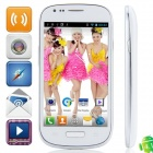 "S9920 MTK6577 Dual-Core Android 4.1.1 WCDMA Bar Phone w/ 4.0"" Screen , Wi-Fi and GPS - White"