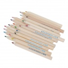 M&G TWP30502 Cartoon 24-Color Pencils + Pencil Sharpener Set - Wood Color + Blue (24 PCS)
