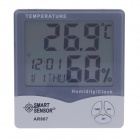 "SMART AR807 3.7"" LCD Alarm Clock w/ Temperature And Humidity Meter (2 AAA)"