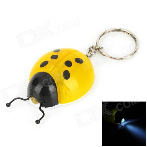 все цены на Cute Ladybug Style LED White Flashlight Keychain - Yellow + Black (3 x LR41) онлайн