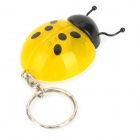 Cute Ladybug Style LED White Flashlight Keychain - Yellow + Black (3 x LR41)