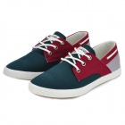 Casual Canvas + Rubber Shoes for Men - Dark Green + Claret + White (Pair / Size 43)