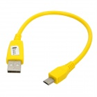 MCC-24 Universal Male USB to Micro USB Data Sync & Charging Cable - Yellow (25cm)
