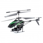 WLtoys V398 3.5-CH IR Remote Control Missiles Launching R/C Helicopter w/ Gyro / LED - Black + Green