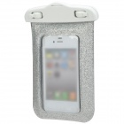 Stylish Shining Waterproof Bag w/ Neck Strap for iPhone 5 / 4 / 4S - Silver