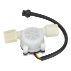 HS01 Precise PVC Water Flow Hall Sensor Flowmeter / Counter - White + Black