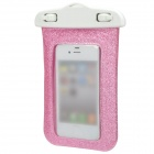 Stylish Shining Waterproof Bag w/ Neck Strap for iPhone 5 / 4 / 4S - Pink