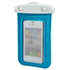 Stylish Shining Waterproof Bag w/ Neck Strap for iPhone 5 / 4 / 4S - Blue