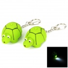 WG-2012 Creative Tortoise Style LED White Flashlight Keychain - Green (2 PCS / 3 x LR41)