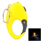 Quick Release Buckle Style LED White Flashlight Keychain - Yellow + Black (3 x LR41)