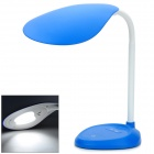 Hilamp HL-12702D Side View 3.6W 5500K 9-LED White Light Flexible Neck Table Lamp - Navy Blue + White