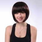 ss027-2t33 Short Fashion BoBo Synthetic Fiber Hair Wig - Brown
