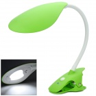 Hilamp HL12701 Clip-on Side View 2.7W 5500K 6-LED White Light Flexible Neck Table Lamp - Grass Green