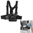 Miniisw 3-Degree-Freedom Comfortable Elastic Chest Belt for  Gopro  hero 3 / 3+ / 2 - Black