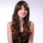 lc065-2t30 Fashion Synthetic Fiber Long Curly Hair Wigs - Light Brown
